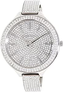 786d0761cdce Image Unavailable. Image not available for. Colour  Michael Kors MK3250  Slim Runway Glitz Crystal Bangle Ladies Watch
