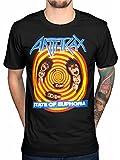 Rock - Camiseta - para hombre negro negro X-Large