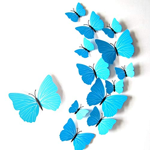 HYLCH Wandaufkleber 3D Butterfly Fridge Magnet Stickers for Bedroom Halloween Christmas Party Decor Pin Butterflies Curtain Wall Decals