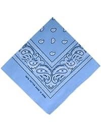ATM - Bandana / Foulard - 100% Coton - Bleu Ciel