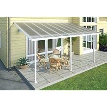 Chalet-Jardin 12PERGOLA 5400 - Terraza de aluminio techo Aurora Blanco 5 x 3 m