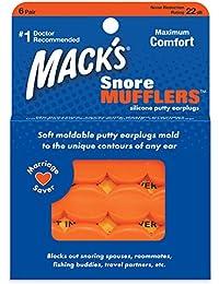 Mack de Ronflements Orange Silencieux, Lot de 6