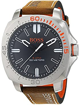 Hugo Boss Orange Sao Paulo Men's Quartz Analogue Classic Brown Leather Strap 1513294