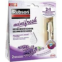 Rubson MiniFresh, deshumificador para armarios con fragancia a lavanda, 2x50gr