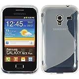 PhoneNatic Custodia Compatibile con Samsung Galaxy Ace Plus Cover Trasparente S-Style Galaxy Ace Plus in Silicone + Pellicola Protettiva
