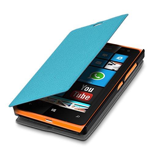 kwmobile Microsoft Lumia 532 Hülle - Flip Handy Schutzhülle - Cover Case Handyhülle für Microsoft Lumia 532