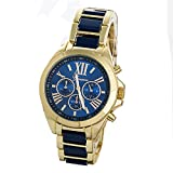 Geneva Gold & Blue Analog Watch For Wome...