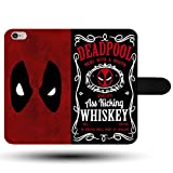 Anti Super Hero Deadpool Funny Label Style Quote Faux Leather Magnetic Clasp Holder Phone Case Cover for iPhone 6/6s Plus