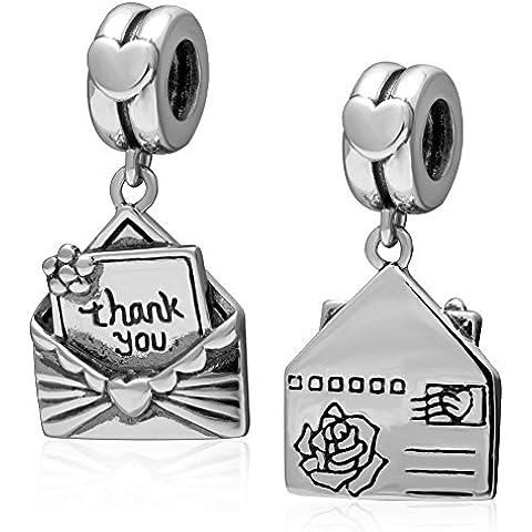 Grazie Busta ciondola fascino .925 Sterling Silver Bead Fits Bracciale stile europeo, collana