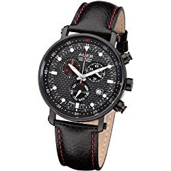 AUER Carbon Black Limited ZU-611-CBBLE Herrenchronograph SWISS ISA