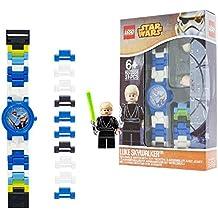 LEGO Star Wars Luke Skywalker Orologio da bambini - Analogico - Quarzo - Quadrante blu - 9002892
