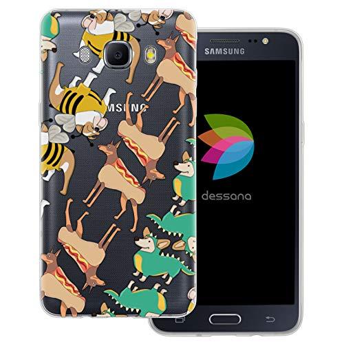 dessana Süße Tiere transparente Schutzhülle Handy Case Cover Tasche für Samsung Galaxy J5 (2016) Hunde im Kostüm