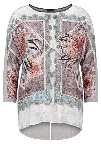 Thomas Rabe Langarmshirt mit Effekt-Garn und Print (Raben Garn)