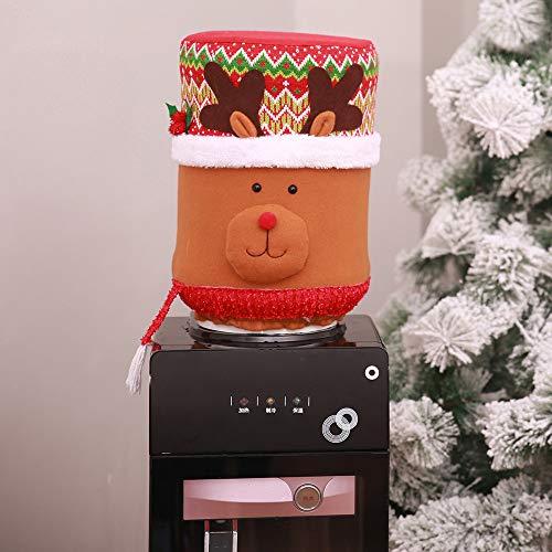 TAOtTAO Weihnachten Staubschutz Wasser Eimer Dispenser Container Flasche Luftreiniger Xmas Decor (C)
