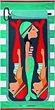 Textil Tarragó Tutti Confetti Toalla de Playa o Piscina, Algodón, Verde Menta, 30x40x3 cm