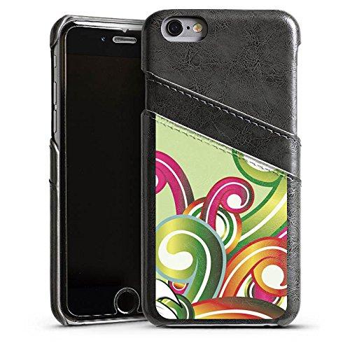 Apple iPhone 5s Housse Étui Protection Coque Fleur Fleur Motif floral Étui en cuir gris