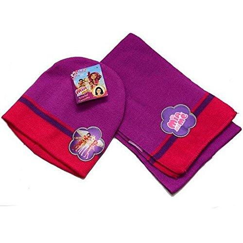 Set invernale 2 pezzi cappello e guanti frozen con elsa e anna