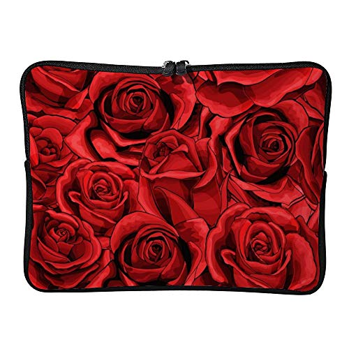 DKISEE Red Rose Flower Laptop Sleeve Case Bag Cover Compatible 15 inches Notebook MacBook Air MacBook Pro - Cover Hp-laptop-disney