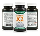 Vitamin K2 MK-7 100mcg 60 Capsules by Phi Naturals by Phi Naturals