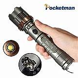 T62000LM Taktik Taschenlampe, Selbstverteidigung wiederaufladbar verstellbar wasserdicht Hohe Taktik Licht, T6Lampe LED Taschenlampe