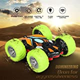 liuxi9836 Liuxi Télécommande Voiture Jouet - 360 degrés Flips Double Face Rotation Race Car modèle Hors Route pour Enfants, avec Chargement par câble USB