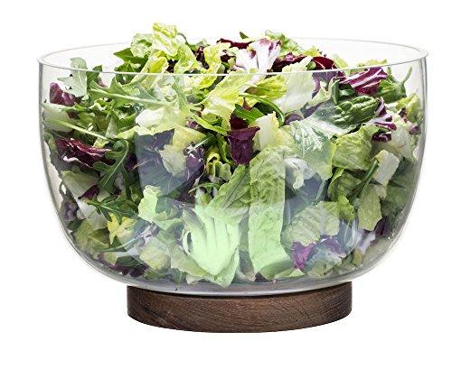 Sagaform Bol et Couverts à Salade, Verre, Multicolore, 22 x 22 x 15 cm, de 2 unités
