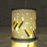 Kartenkaufrausch 5 Edle Transparentlichter| Teelichthalter| Kleine Transparentpapier Leuchten mit Japanischen Kranichen, Gelb Beige