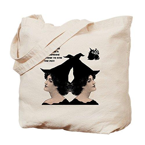 CafePress–Rossini Starke Frauen Hexe Stir Topf klein W–Leinwand Natur Tasche, Reinigungstuch Einkaufstasche, canvas, khaki, ()