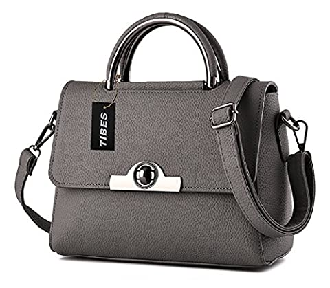 Tibes modernen Frauen Umhängetasche niedliche Handtasche kleine Umhängetasche Tief Grau