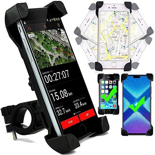 Roar Handyhalterung Fahrrad, Universal Handyhalter Fahrrad Motorrad, 360° Drehbar, Fahrrad-Lenker Halterung für iPhone SE 6 7 8 X XS XR, Samsung Galaxy S7 S8 S9 S10 [3.5 - 6.5 Zoll]