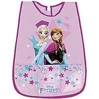 PERLETTI Delantal Disney Frozen Niña - Bata Escolar sin Mangas Impermeable y con Bolsillo Delantero -