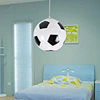 Luz colgante de fútbol para los niños creativos dormitorio luces balcón Lámpara LED gota de luz E27 pantalla del dormitorio sala de cena vestíbulo