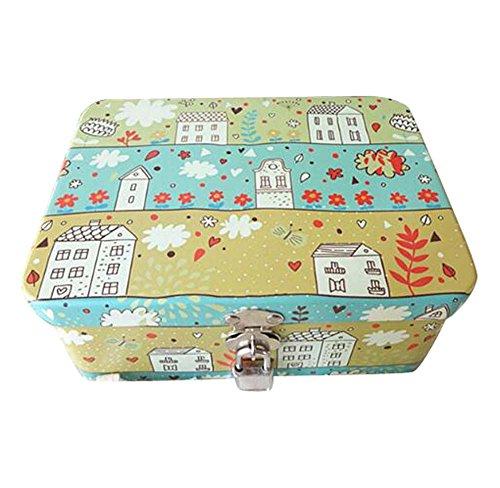 Neue Stil Iron Box Passwort Schloss Box Desktop Storage Kosmetik Box-Home -