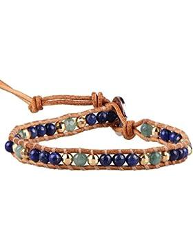 KELITCH Lapis Jade Mix Perlen Single Wicklen Armband Handmade Neu Charm Schmuck
