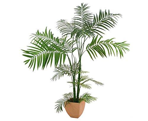 Areca Palme, Kunstpalme mit 13 Textil Blätter, mit Topf, Höhe 170cm – künstliche Palme Dekopalme