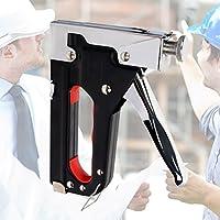 UKCOCO Heavy Duty Staple Gun, Herramienta de clavadora Brad Nailer Bradley manual de acero inoxidable para material de fijación Carpintería Puertas de decoración Muebles y ventanas