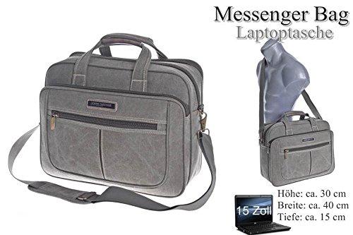 Borsa a tracolla Citybag equipaggio portadocumenti borsa a tracolla business Messenger Bag borsa Black nuovo plastica Canvas multicolore nero marrone chiaro