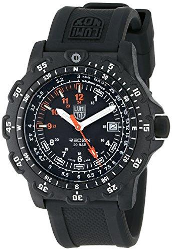 Luminox Men's Recon Point Man 45mm Black Rubber Band Polycarbonate Case Quartz Analog Watch 8821KM