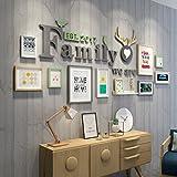 Fotorahmen Kollage Groß Foto-Wand-hölzernes Foto-Wand-europäisches Wohnzimmer-Restaurant-Foto-Rahmen-Wand Einfache kreative kreative Foto-Rahmen-Wand ( Color : 2# )