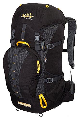 Zaino TASHEV Summit 40litri zaino da escursionismo in Cordura®, grigio-verde (nero) - SUMMIT 40 nero/giallo