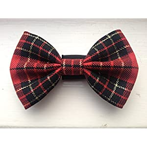 FAB-Red-and-Gold-Dog-Bow-Tie-Slips-over-your-Dogs-collar