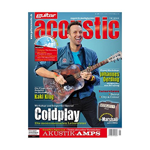 guitar acoustic 1 2012 mit CD - Coldplay - Interviews - Akustikgitarre Workshops - Akustikgitarre Playalongs - Akustikgitarre Test und Technik - Akustikgitarre Noten