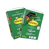 16 kg 'Maître Grill ' Grillbriketts - im praktischen Schüttkarton- aus reiner Buchenholzkohle (2x8kg Karton)
