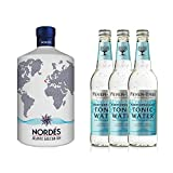 Nordés Atlantic Galician Gin (1 x 0,7l) inkl. Fever Tree Mediterranean Tonic Water (3 x 500 ml)