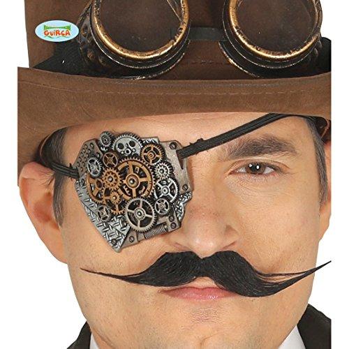 Amakando Cyberpunk Augenmaske Steampunk Augenklappe Steampunk Kostüm Zubehör -