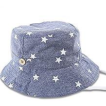 Leisial Sombrero Pescador con Algodón de Protectora del Sol Sombrero de Vaquero Primaver Venaro para Bebés Niños Niñas