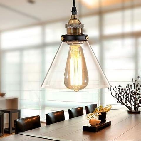 fsliving industria vintage Edison lampadina E26dimmerabile, lampada a sospensione per ristoranti o salotto