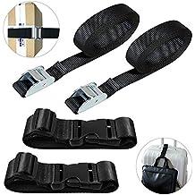 AFUNTA 4 piezas de correas de pestañas y añadir cinturones de equipaje, correa de carga