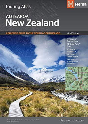 New Zealand - Touring Atlas  1 : 350.000