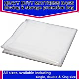 HEAVY DUTY REMOVAL MOVING MATTRESS POLYTHENE COVER BAG *400 GAUGE* (Single 3ft Mattress Bag)